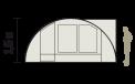 Schéma de coupe tente Biscaya 440