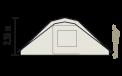 Schéma en coupe tente Bora-Bora