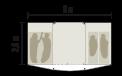 Schéma aérien tente Bora-Bora