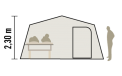 Schéma coupe caravane pliante Malawi